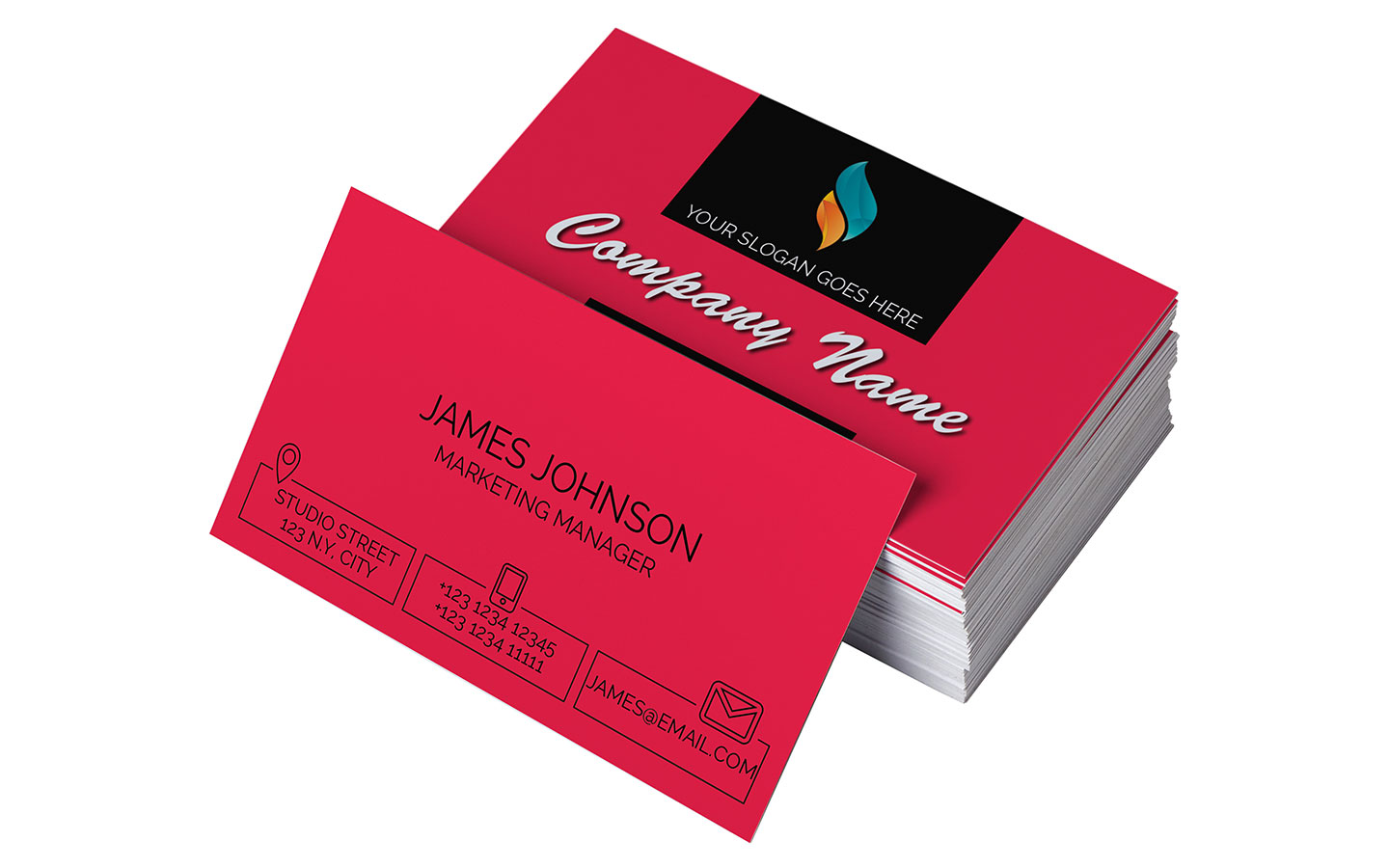Business card templates for adobe indesign on the mac app store preview of one business card template friedricerecipe