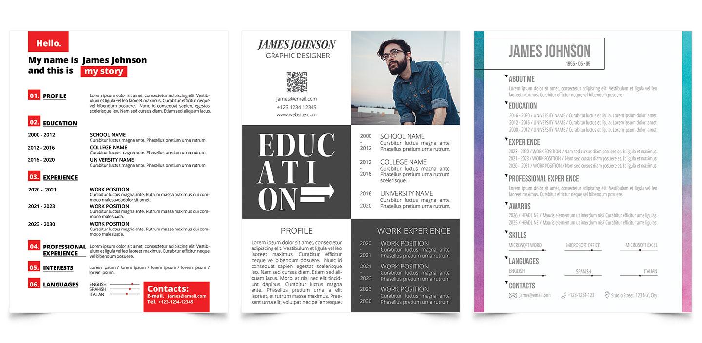 CV & Résumé Templates for Adobe InDesign