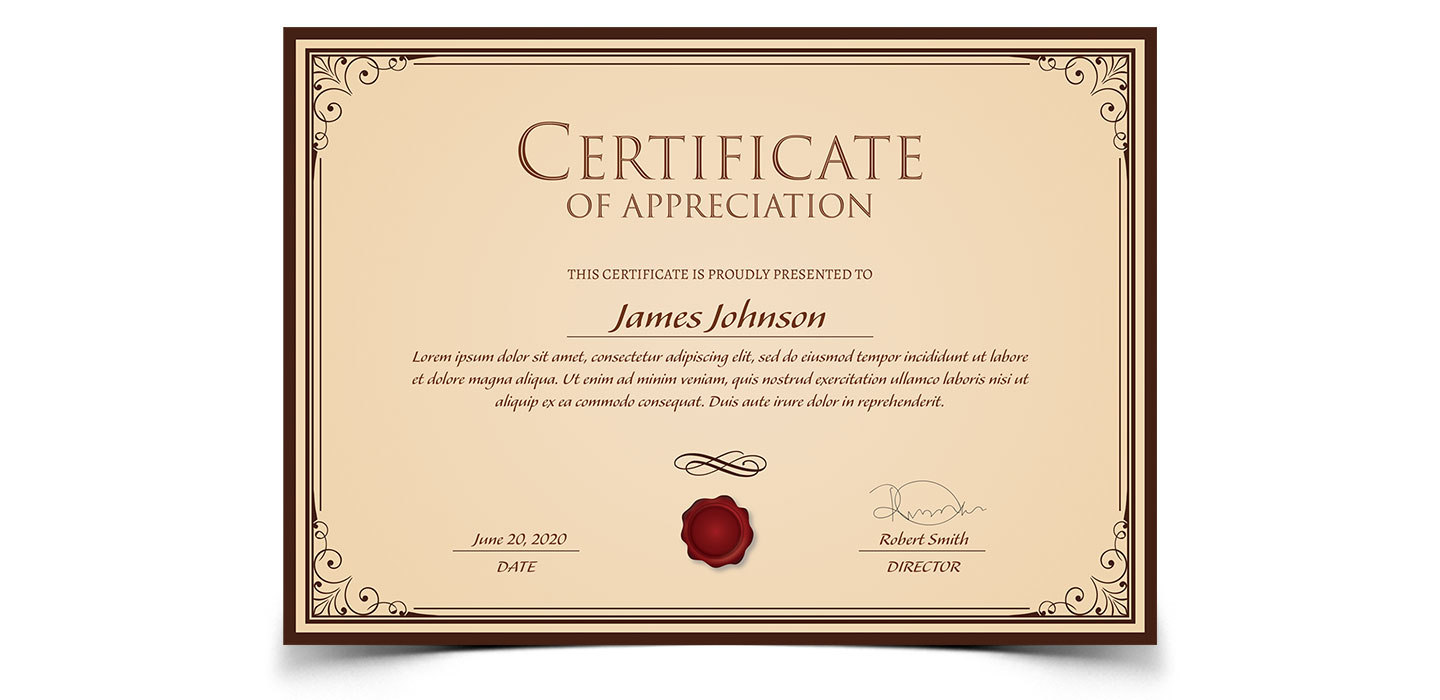 Certificate Templates For Adobe Photoshop